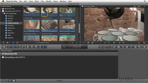 Finding the meat of the clips: Effective Storytelling with Final Cut Pro X v10.0.9