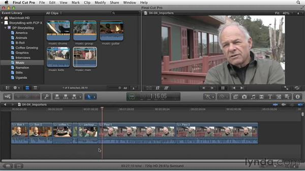 Putting story threads in order: Effective Storytelling with Final Cut Pro X v10.0.9