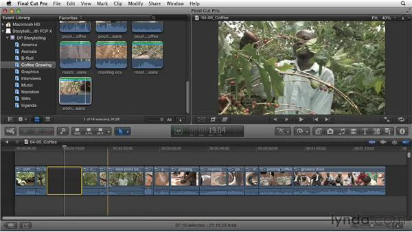 Sculpting the story within the timeline: Effective Storytelling with Final Cut Pro X v10.0.9