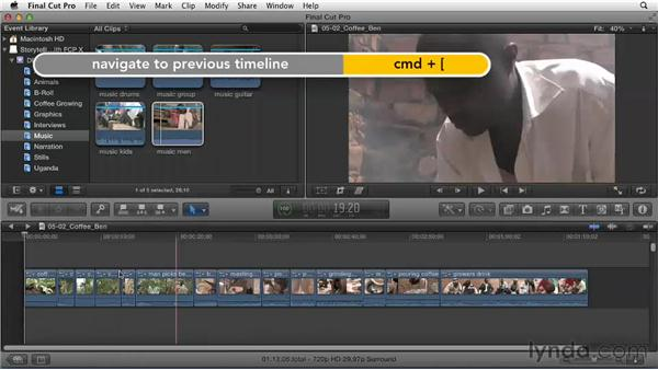 Compounding thoughts into one primary story project: Effective Storytelling with Final Cut Pro X v10.0.9