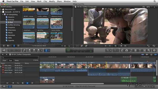Fine-tuning the edits in a project: Effective Storytelling with Final Cut Pro X v10.0.9