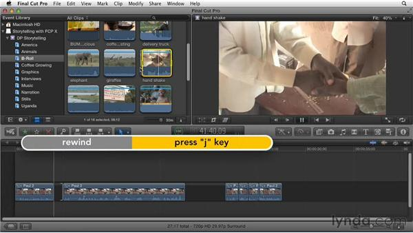 Embellishing the story with cutaways to B-roll footage: Effective Storytelling with Final Cut Pro X v10.0.9