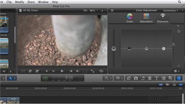 """Altering your story's """"look"""" using the Color Board: Effective Storytelling with Final Cut Pro X v10.0.9"""