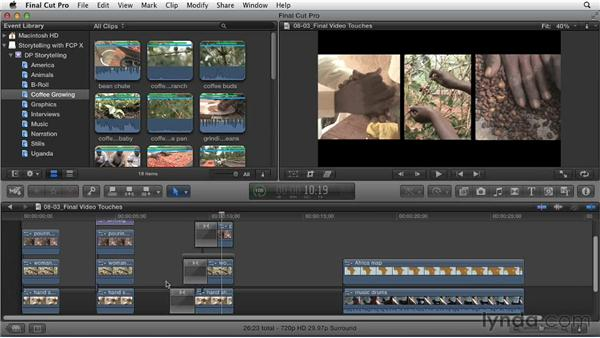 Video finishing touches: Effective Storytelling with Final Cut Pro X v10.0.9