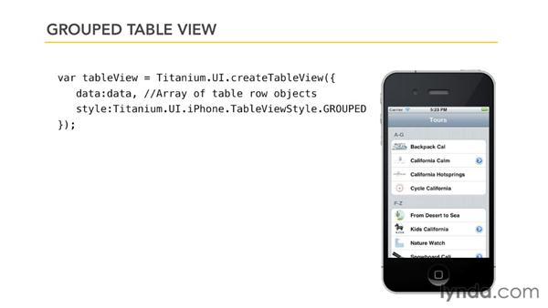 Other properties and methods: Titanium Mobile App Development Essential Training