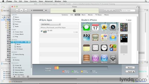 iOS: Provisioning and ad hoc distribution profiles: Titanium Mobile App Development Essential Training