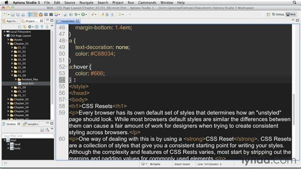 Using CSS Resets: CSS: Page Layouts