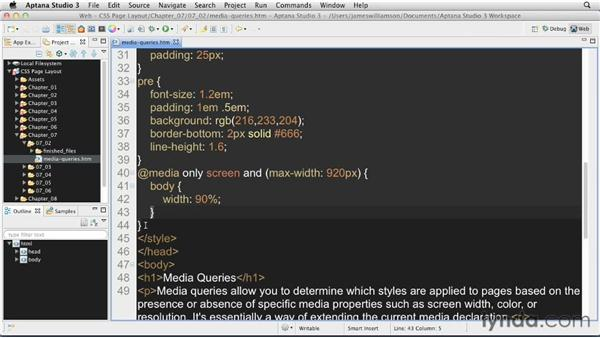 Using media queries: CSS: Page Layouts