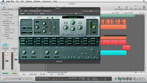 Getting Started with EXS24: Virtual Instruments in Logic Pro