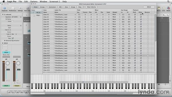 Creating multiple zone instruments: Virtual Instruments in Logic Pro