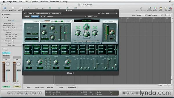Using transpose and glide to add expression to EXS24: Virtual Instruments in Logic Pro