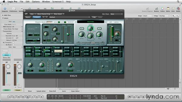 Further shaping with the envelopes: Virtual Instruments in Logic Pro