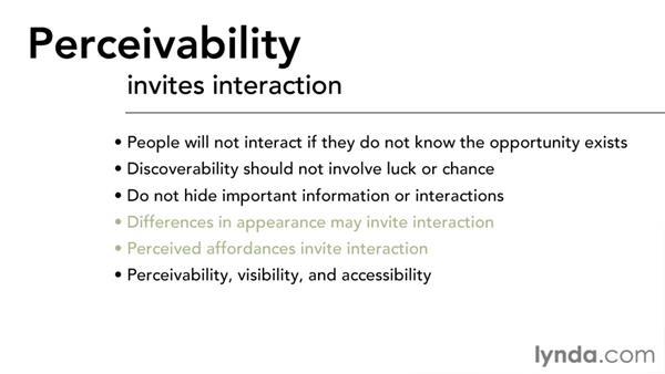 Perceivability: Interaction Design Fundamentals