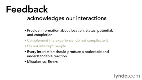 Feedback: Interaction Design Fundamentals