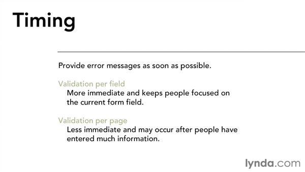 Error handling and messages: Interaction Design Fundamentals