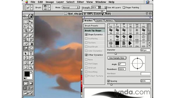 smudge tool: Photoshop Brushes