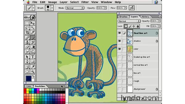 recoloring line art: Photoshop Brushes