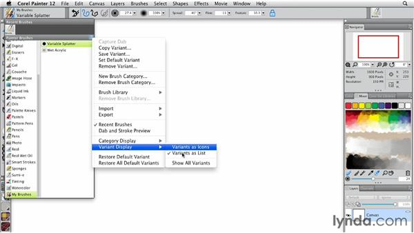 Working with the Brush Selector: Painter 12 Essential Training