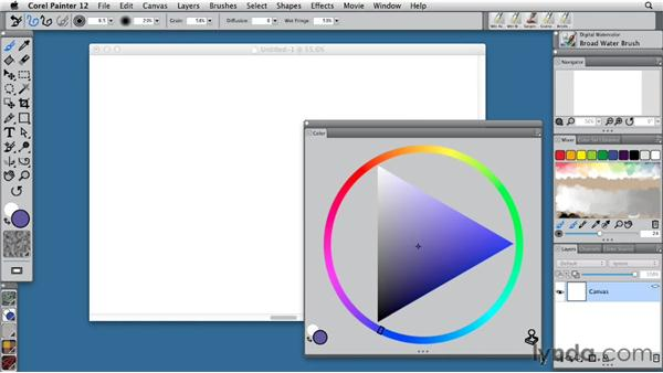 Controlling color with the Color palette: Painter 12 Essential Training