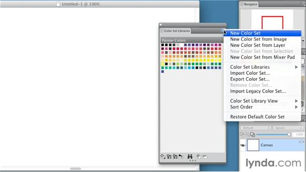 Working with color sets: Painter 12 Essential Training