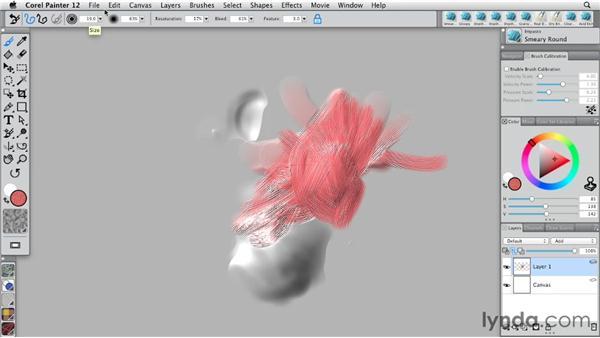 Working with Impasto: Painter 12 Essential Training