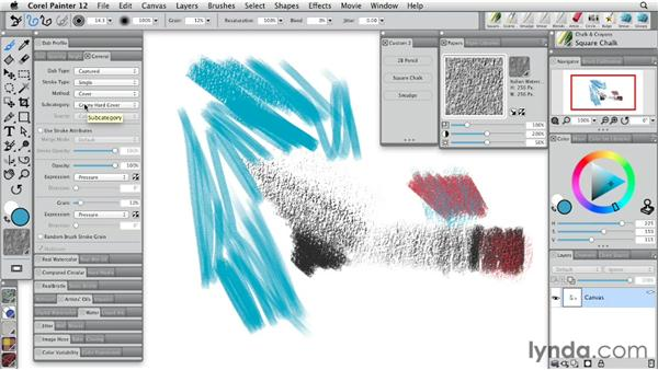 Working with texture-aware media: Painter 12 Essential Training