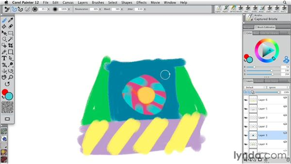 Preserving transparency in layers: Painter 12 Essential Training