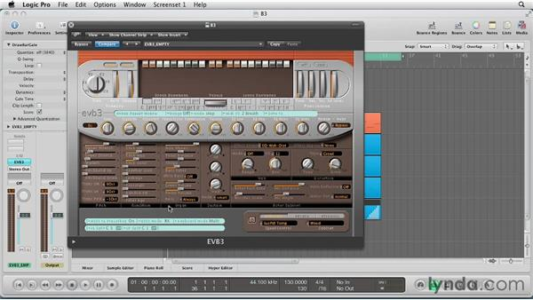 Getting started with EVB3: Virtual Instruments in Logic Pro