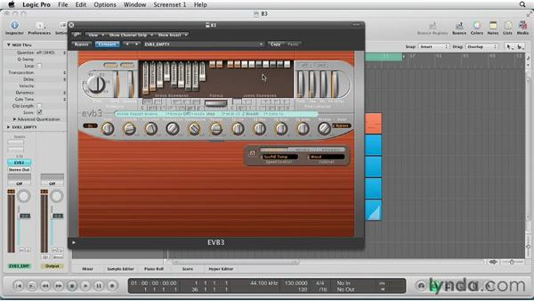 Synthesizing with the Drawbars: Virtual Instruments in Logic Pro
