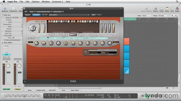 Utilizing the Preset Keys and Morph Wheel: Virtual Instruments in Logic Pro