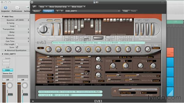 Adjusting the Organ and Sustain Parameters: Virtual Instruments in Logic Pro