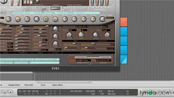 Modulating sound with the Leslie Rotor Cabinet: Virtual Instruments in Logic Pro
