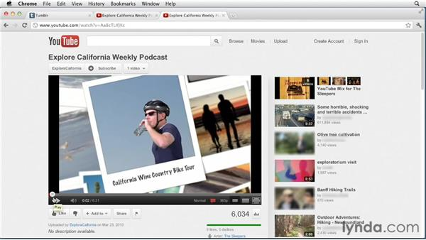 Creating video posts: Up and Running with Tumblr