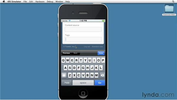 Publishing on a mobile device: Up and Running with Tumblr