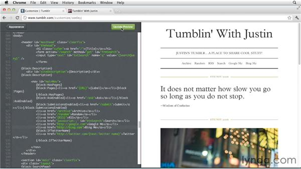 Linking to pages in Tumblr: Up and Running with Tumblr