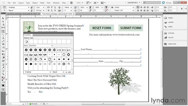 Designing forms in InDesign: Acrobat X: Creating Forms