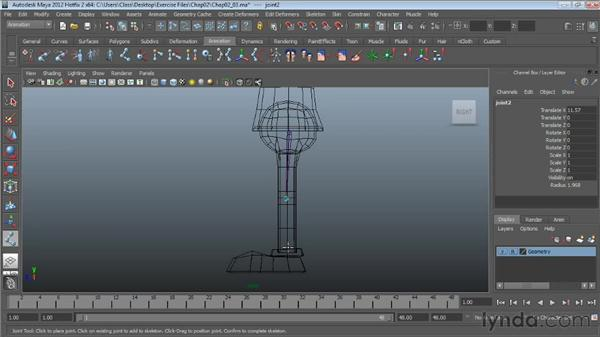 Creating the lower-body skeleton: Character Rigging in Maya