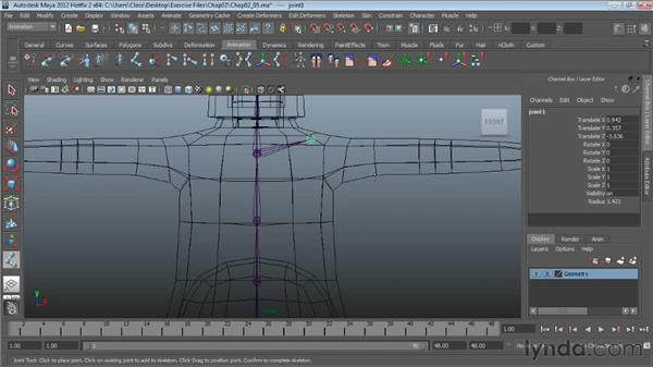 Creating the arms: Character Rigging in Maya