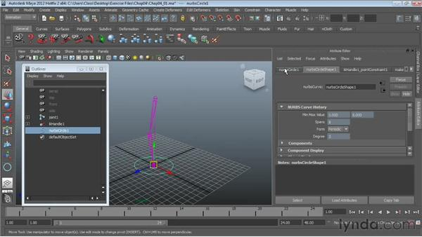Point constraints: Character Rigging in Maya
