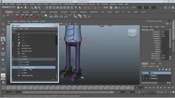 Controlling knee direction: Character Rigging in Maya