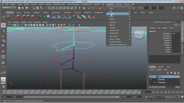 Creating spine controls: Character Rigging in Maya
