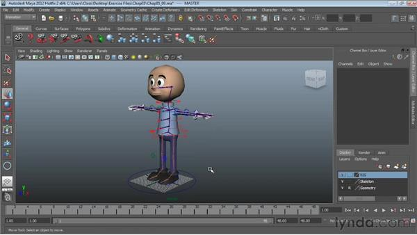Creating a master node: Character Rigging in Maya