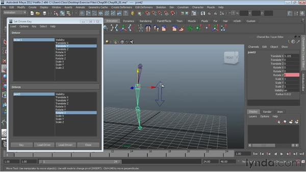 Working with set-driven keys: Character Rigging in Maya