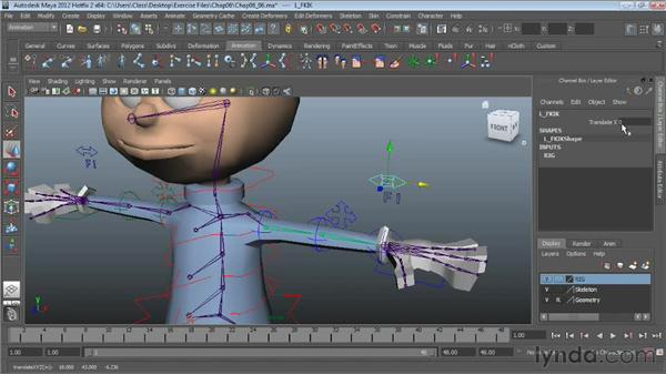 Hiding and showing controls: Character Rigging in Maya