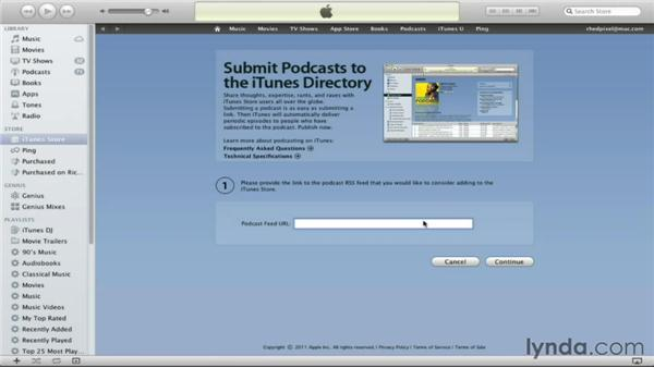 Submitting a podcast to iTunes: Maximizing Your Web Video and Podcast Audience with Hypersyndication