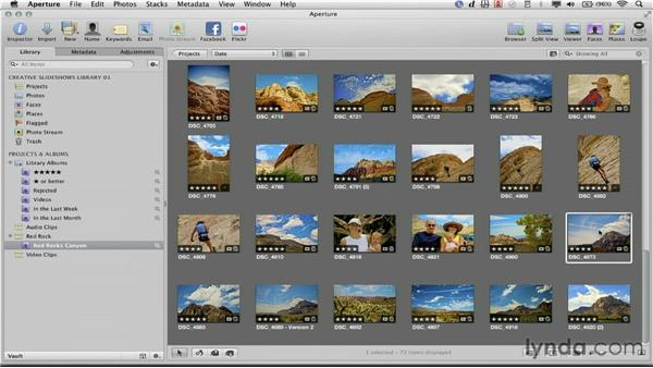 Arranging the order of your show: Creative Slideshows with Aperture