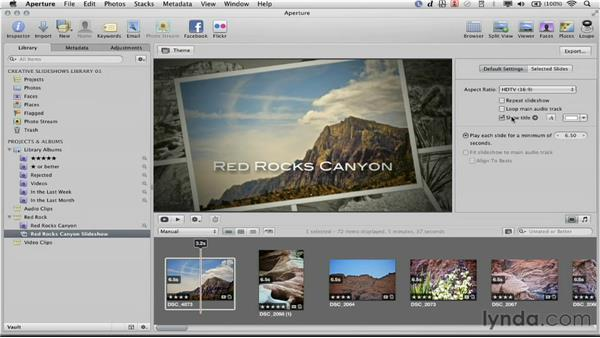 Setting the default settings: Creative Slideshows with Aperture