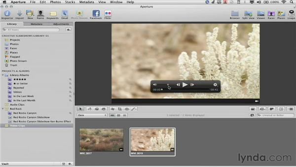 Why use video?: Creative Slideshows with Aperture