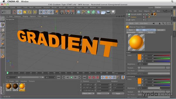 017 Shading type using gradients in Cinema 4D: Design in Motion