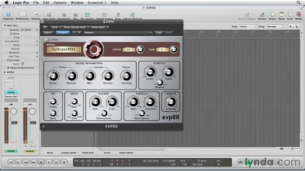 Adding effects to thicken the sound: Virtual Instruments in Logic Pro